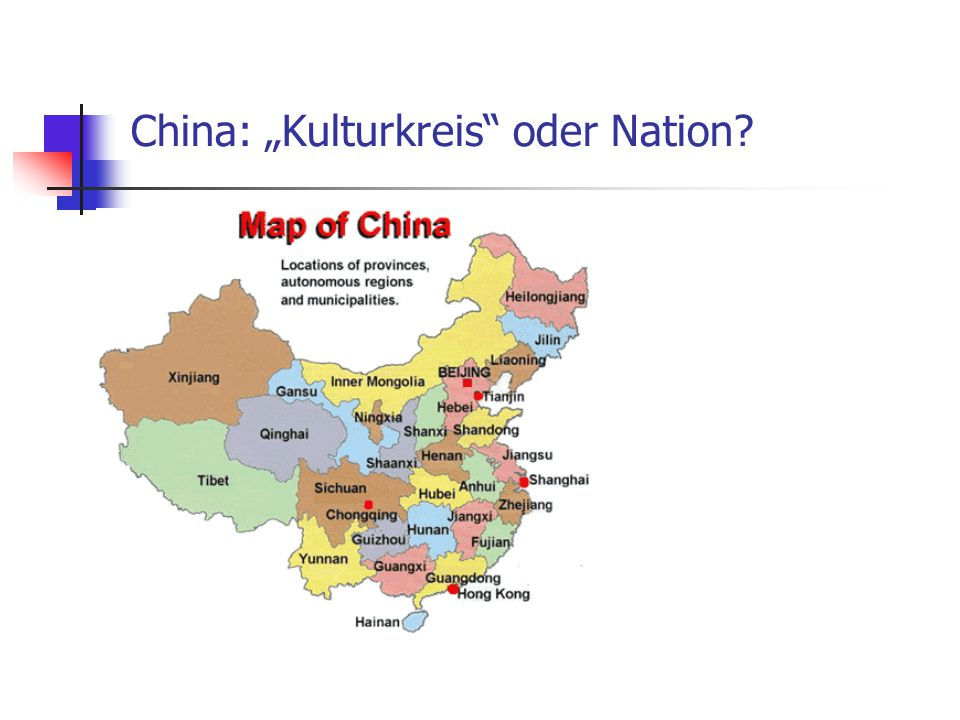 "China: ""Kulturkreis oder Nation"