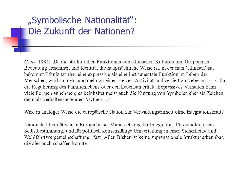 """""""Symbolische Nationalität : Die Zukunft der Nationen"""