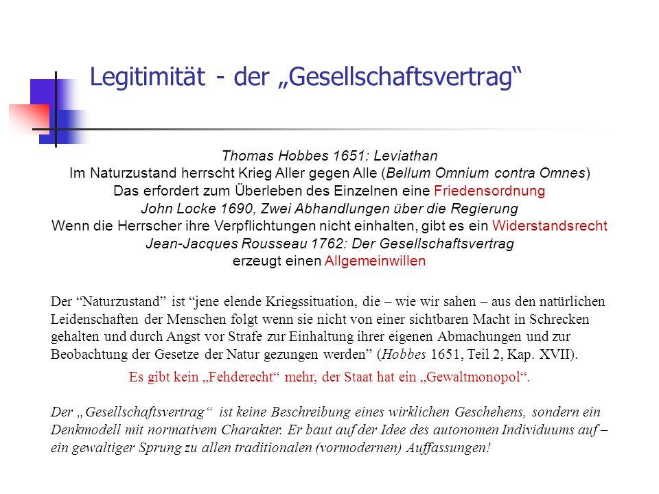 "Legitimität - der ""Gesellschaftsvertrag"