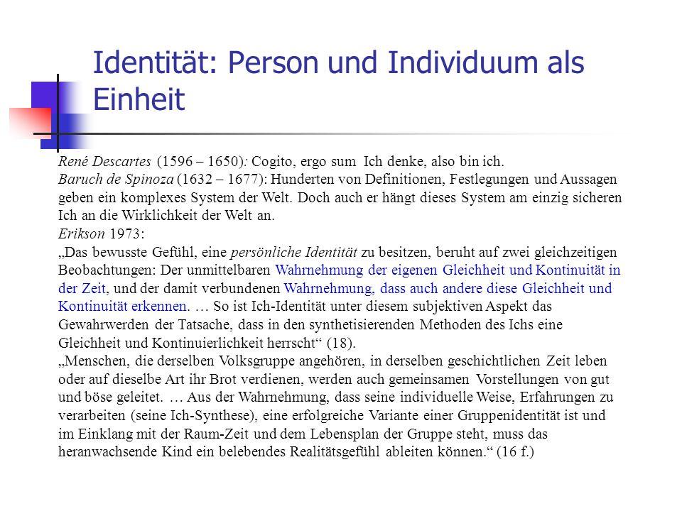 Identität: Person und Individuum als Einheit