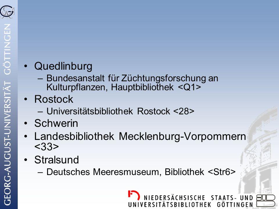 Landesbibliothek Mecklenburg-Vorpommern <33> Stralsund