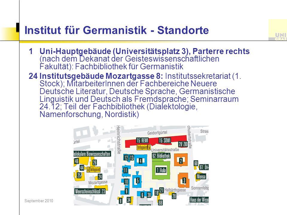 Institut für Germanistik - Standorte