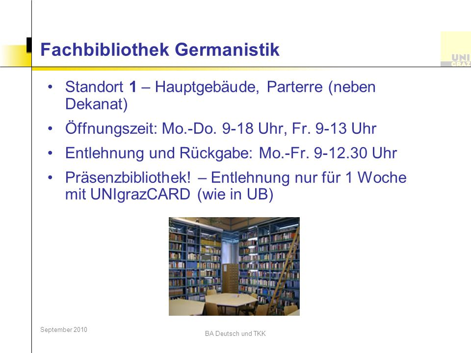 Fachbibliothek Germanistik
