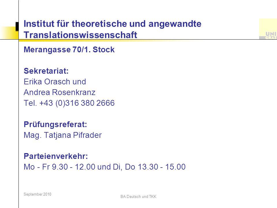 Institut für theoretische und angewandte Translationswissenschaft