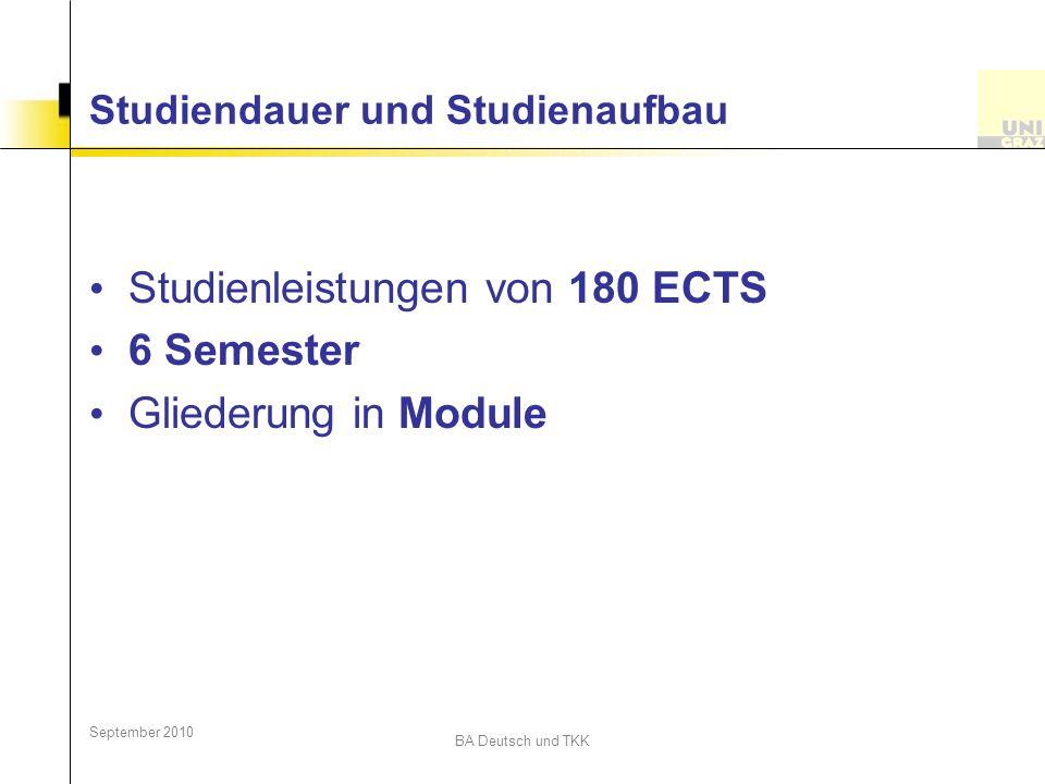 Studiendauer und Studienaufbau