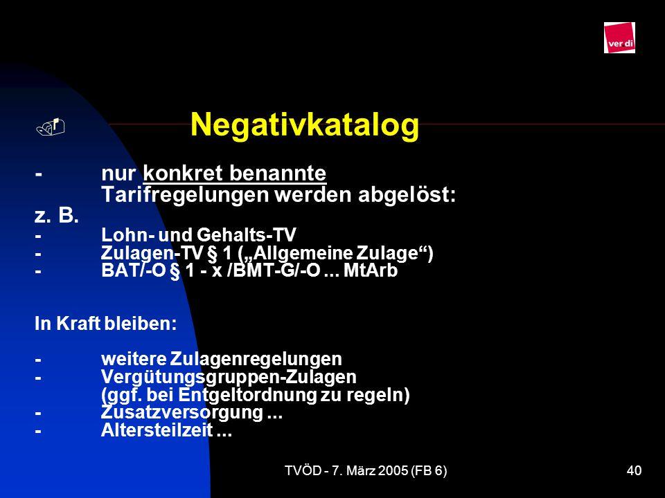 Negativkatalog -. nur konkret benannte