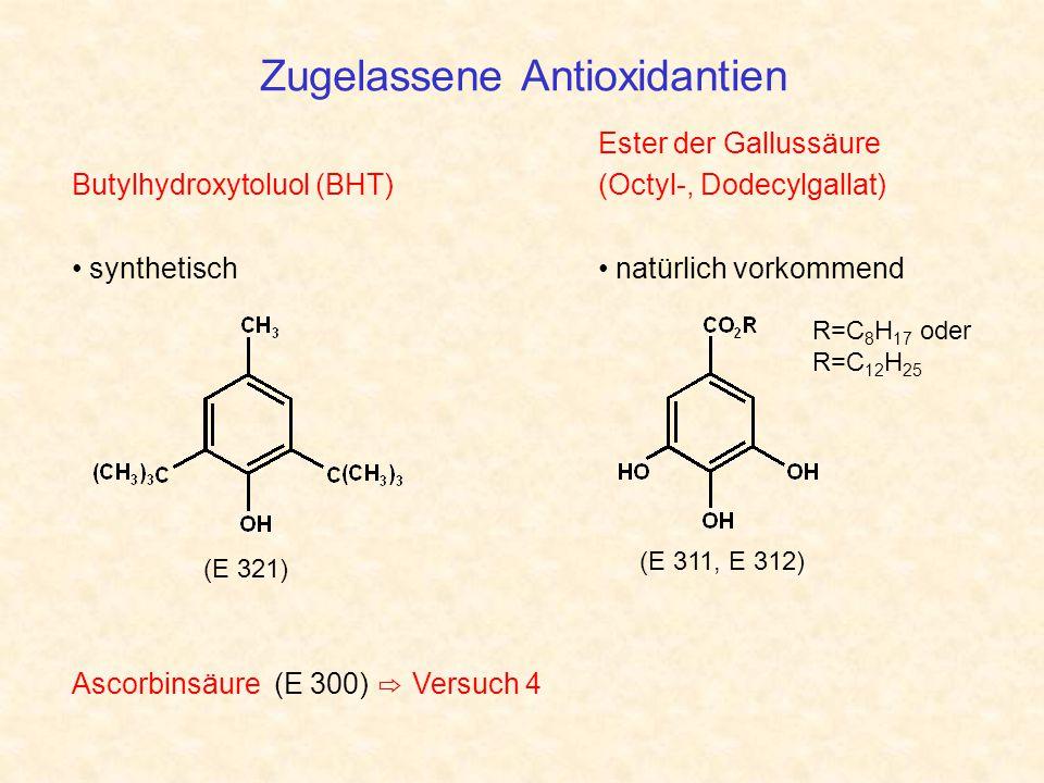 Zugelassene Antioxidantien