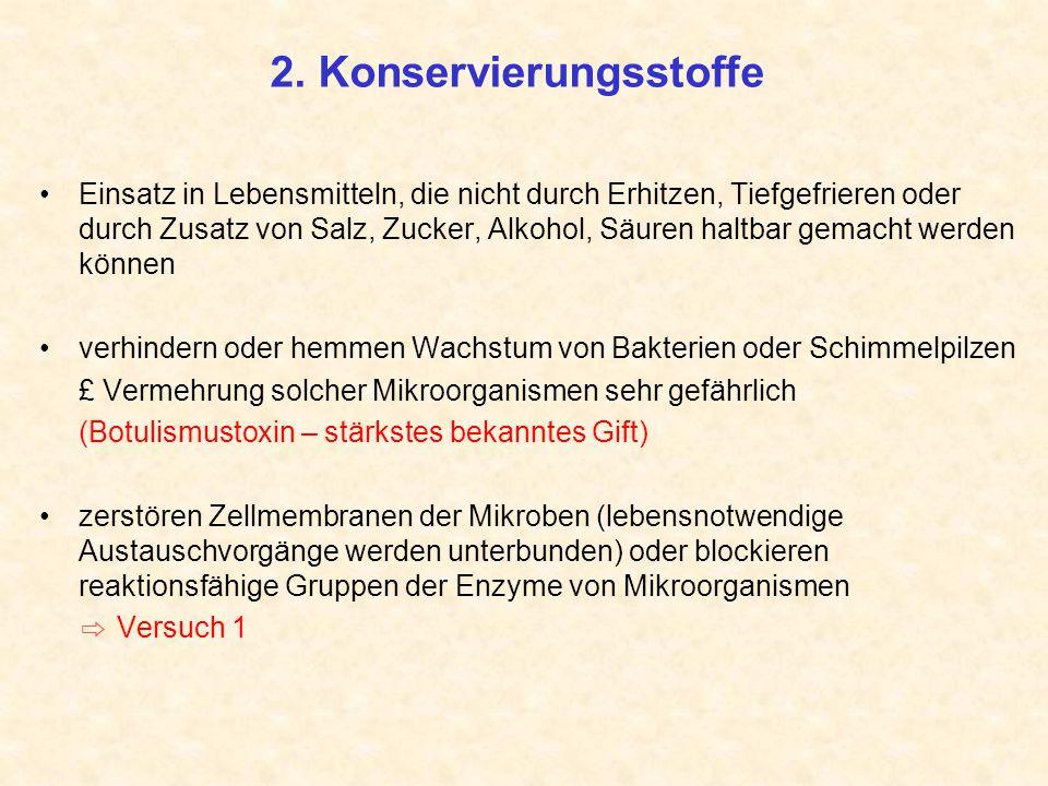 2. Konservierungsstoffe