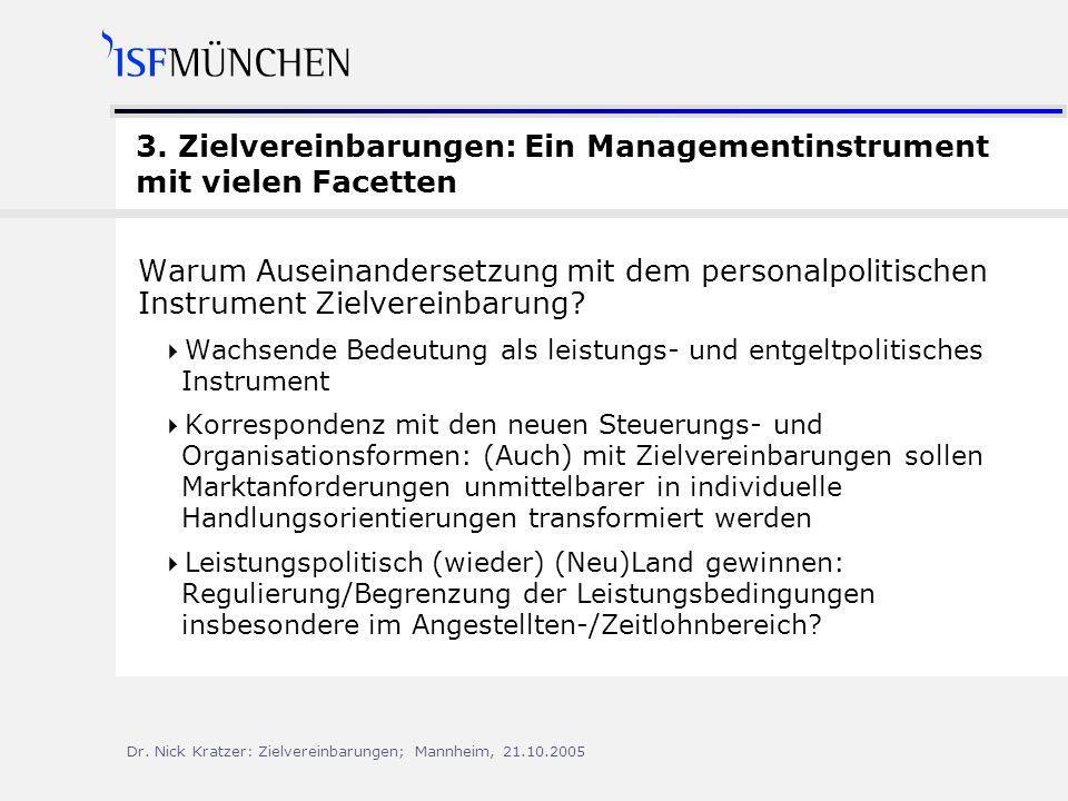 3. Zielvereinbarungen: Ein Managementinstrument mit vielen Facetten