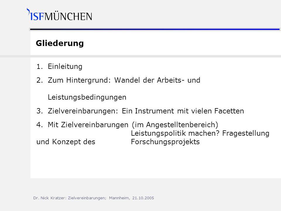 Gliederung 1. Einleitung. 2. Zum Hintergrund: Wandel der Arbeits- und Leistungsbedingungen.