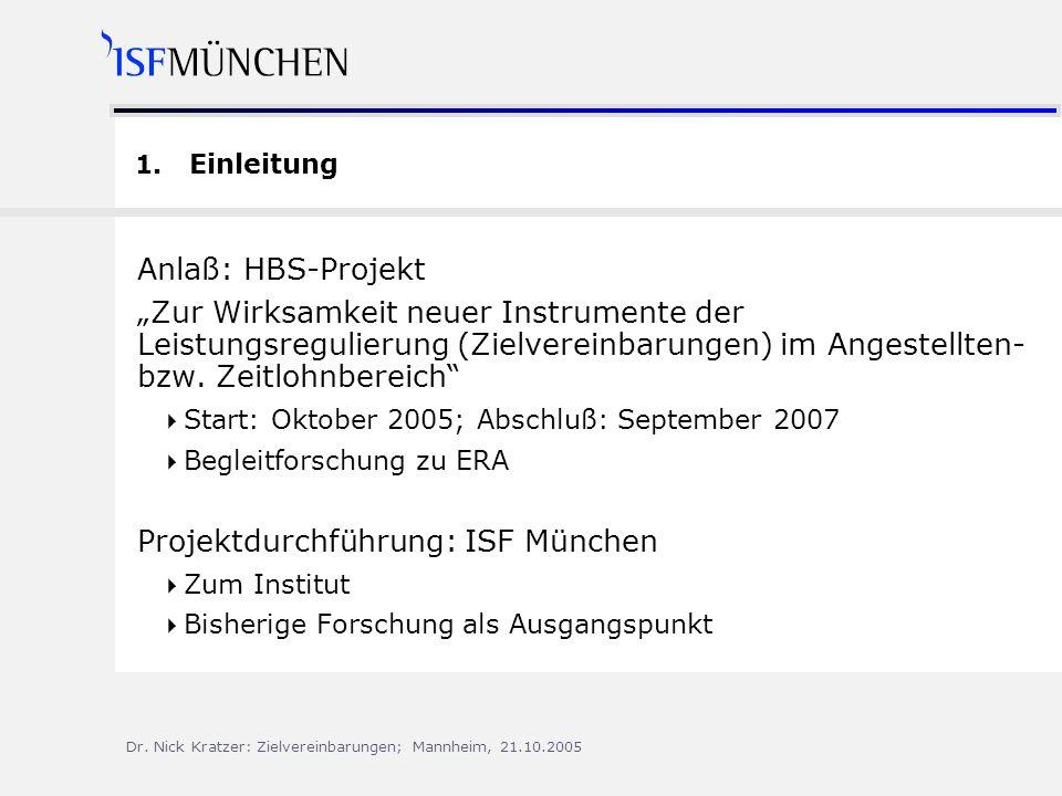 Projektdurchführung: ISF München