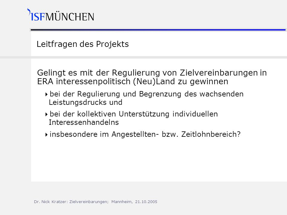 Leitfragen des Projekts