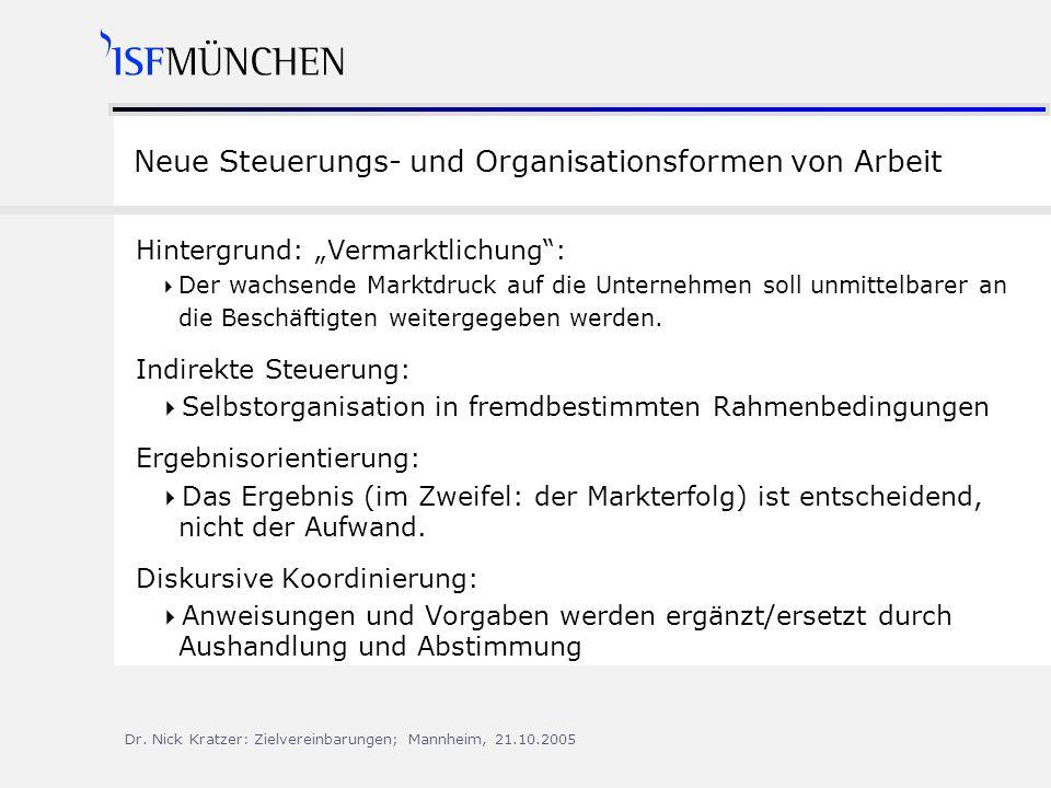 Neue Steuerungs- und Organisationsformen von Arbeit