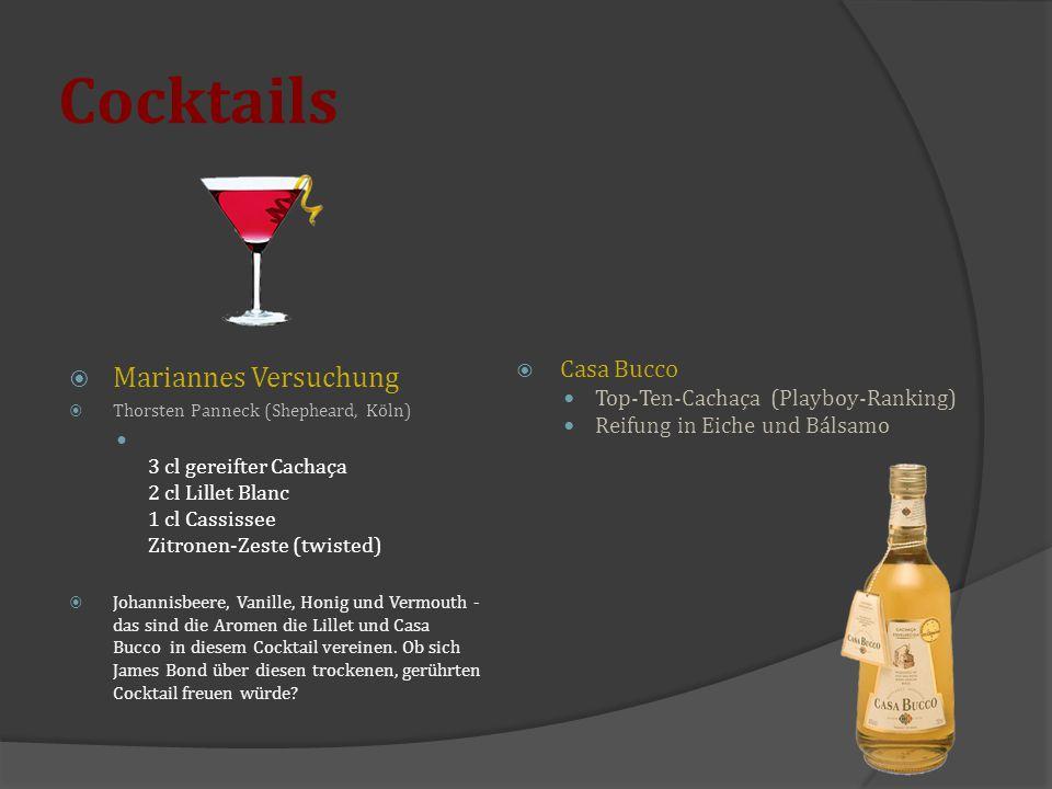 Cocktails Mariannes Versuchung Casa Bucco