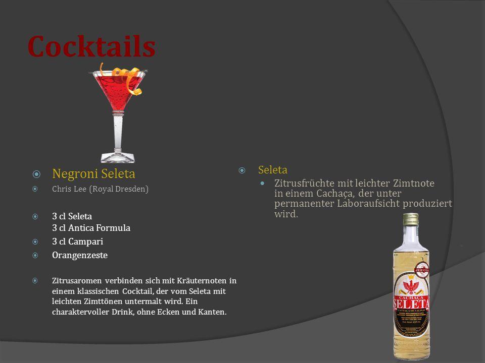 Cocktails Negroni Seleta Seleta
