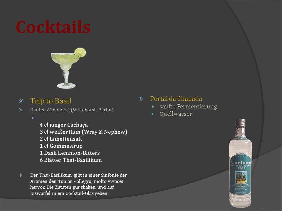 Cocktails Trip to Basil Portal da Chapada sanfte Fermentierung