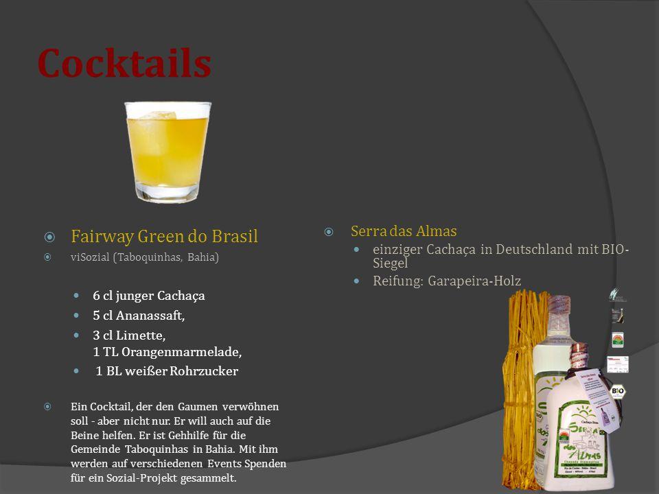Cocktails Fairway Green do Brasil Serra das Almas