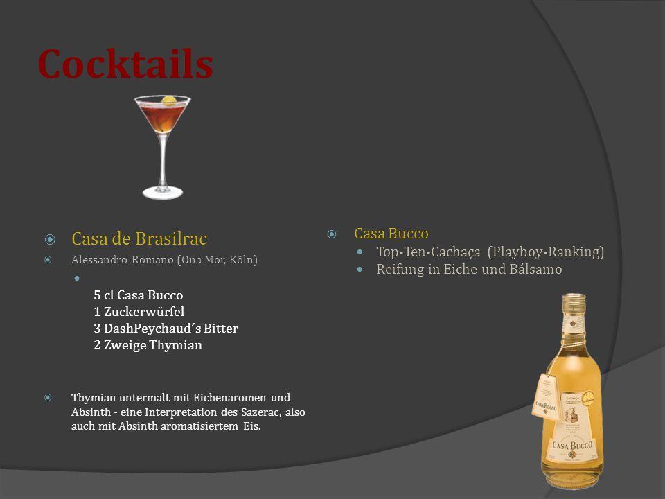 Cocktails Casa de Brasilrac Casa Bucco
