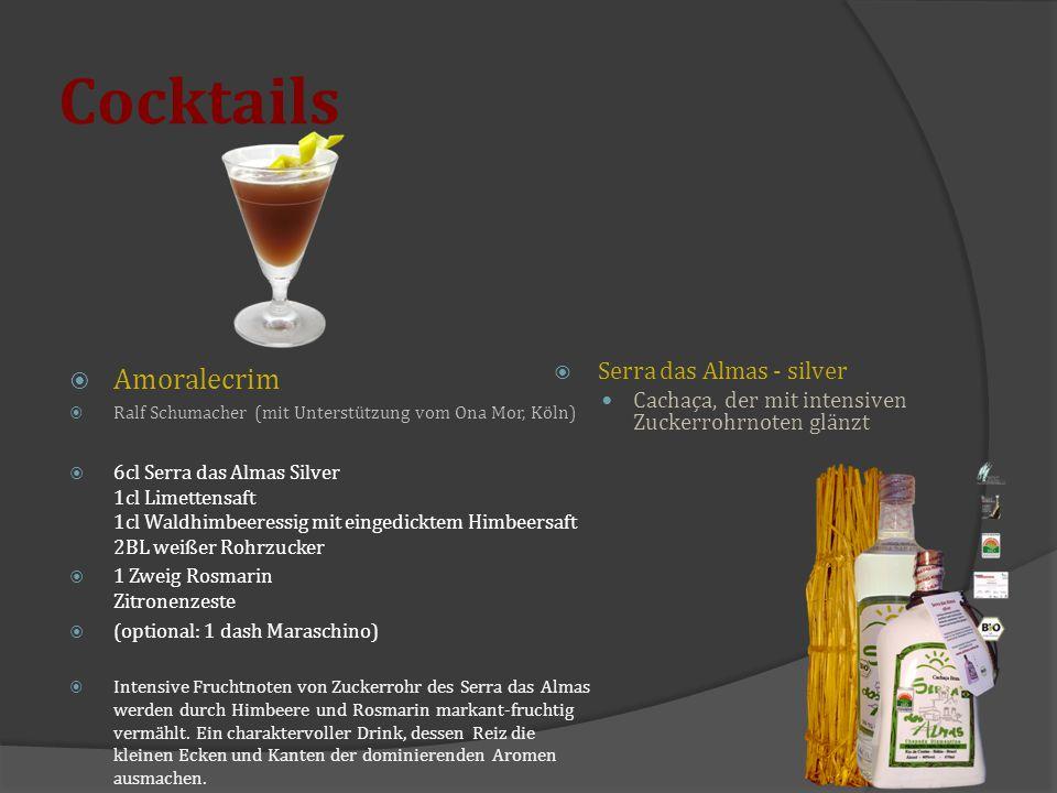 Cocktails Amoralecrim Serra das Almas - silver