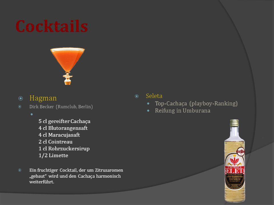 Cocktails Hagman Seleta Top-Cachaça (playboy-Ranking)