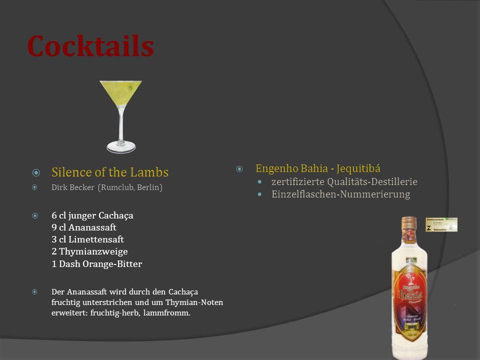 Cocktails Silence of the Lambs Engenho Bahia - Jequitibá