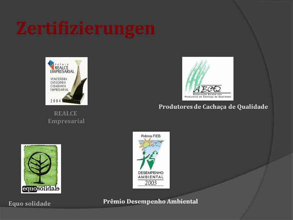 Zertifizierungen Produtores de Cachaça de Qualidade REALCE Empresarial