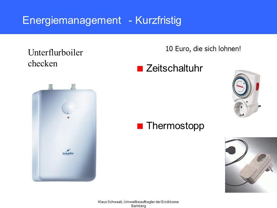 Energiemanagement - Kurzfristig