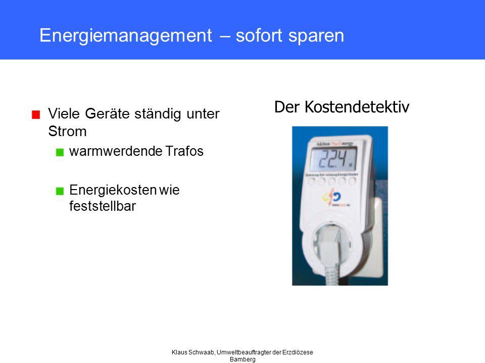 Energiemanagement – sofort sparen