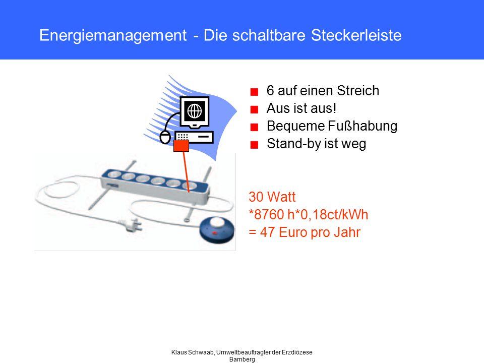 Energiemanagement - Die schaltbare Steckerleiste