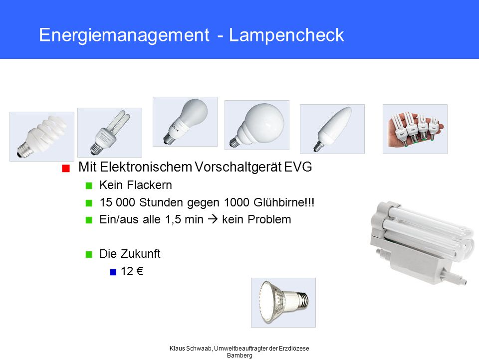 Energiemanagement - Lampencheck