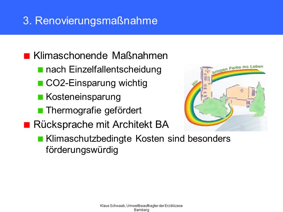 3. Renovierungsmaßnahme