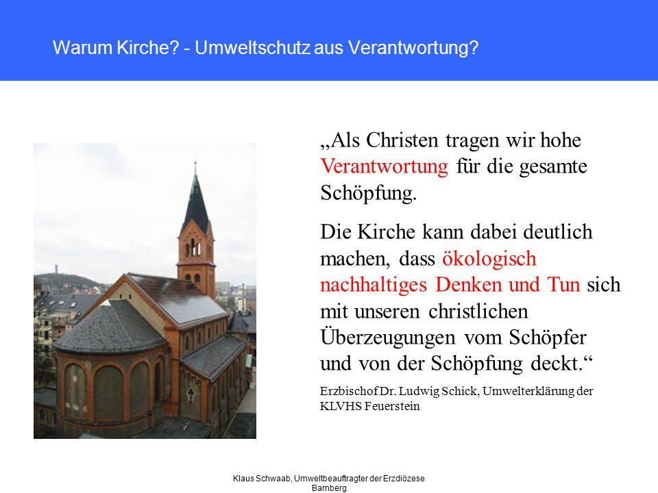Warum Kirche - Umweltschutz aus Verantwortung