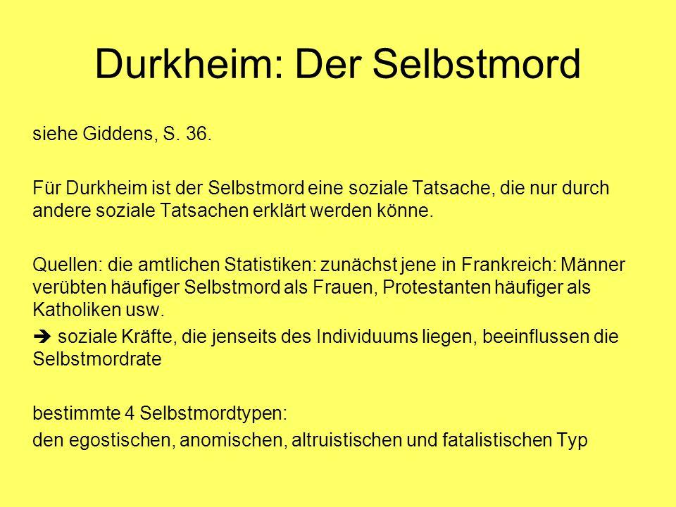 Durkheim: Der Selbstmord