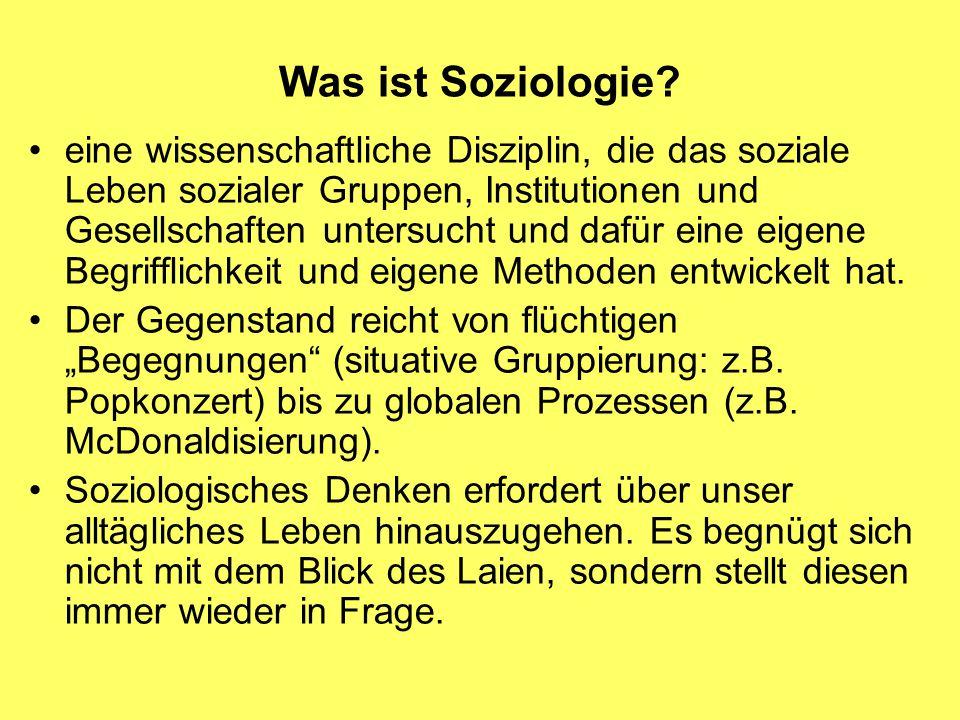 Was ist Soziologie