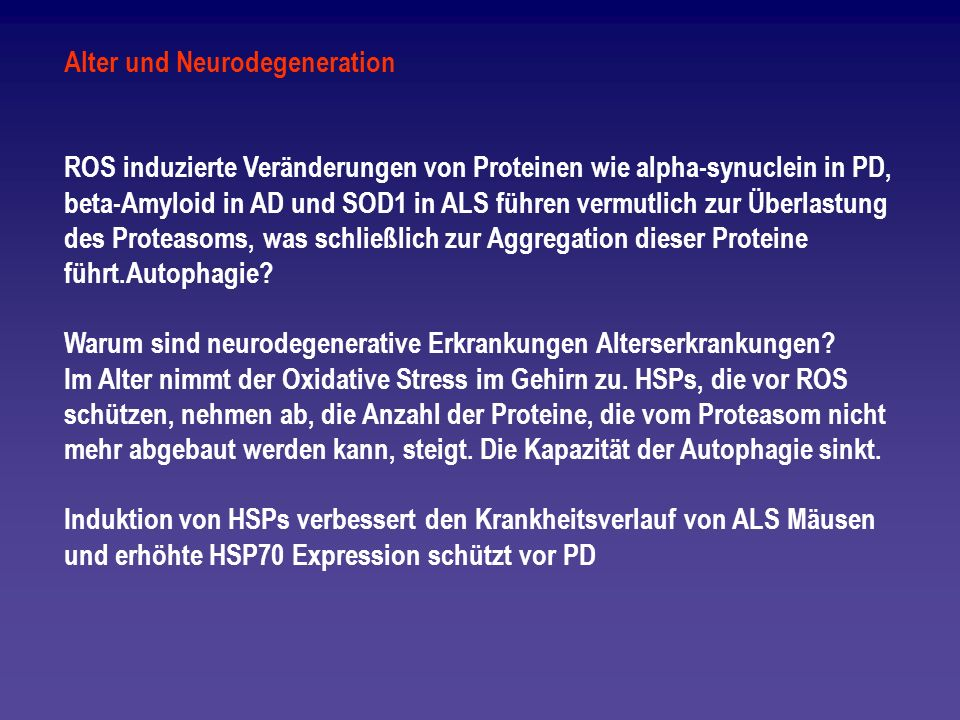 Alter und Neurodegeneration