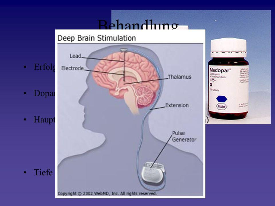 Behandlung Erfolgt symptomatisch Dopaminagonisten