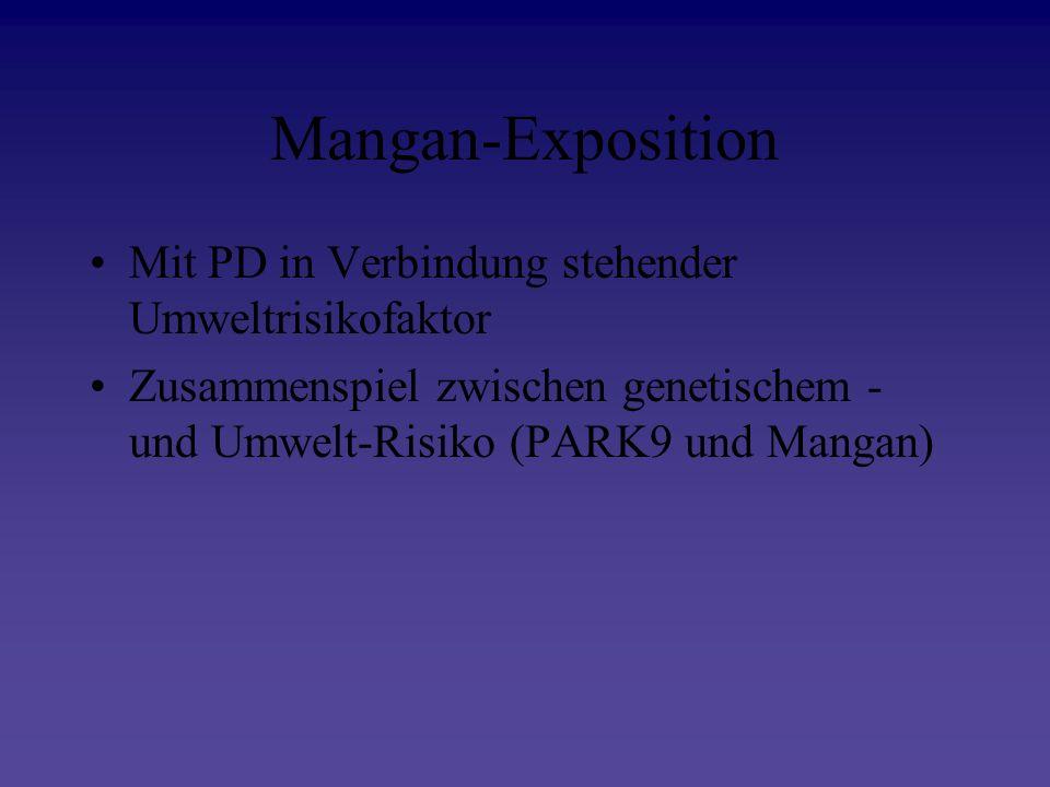 Mangan-Exposition Mit PD in Verbindung stehender Umweltrisikofaktor