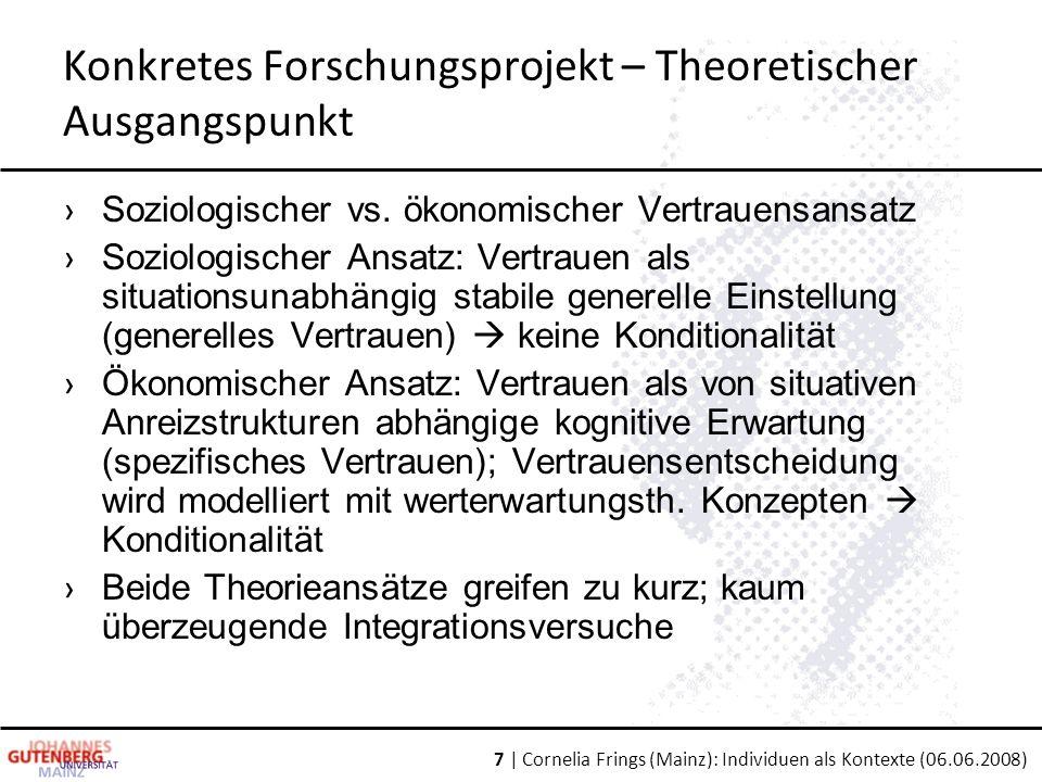 Konkretes Forschungsprojekt – Theoretischer Ausgangspunkt