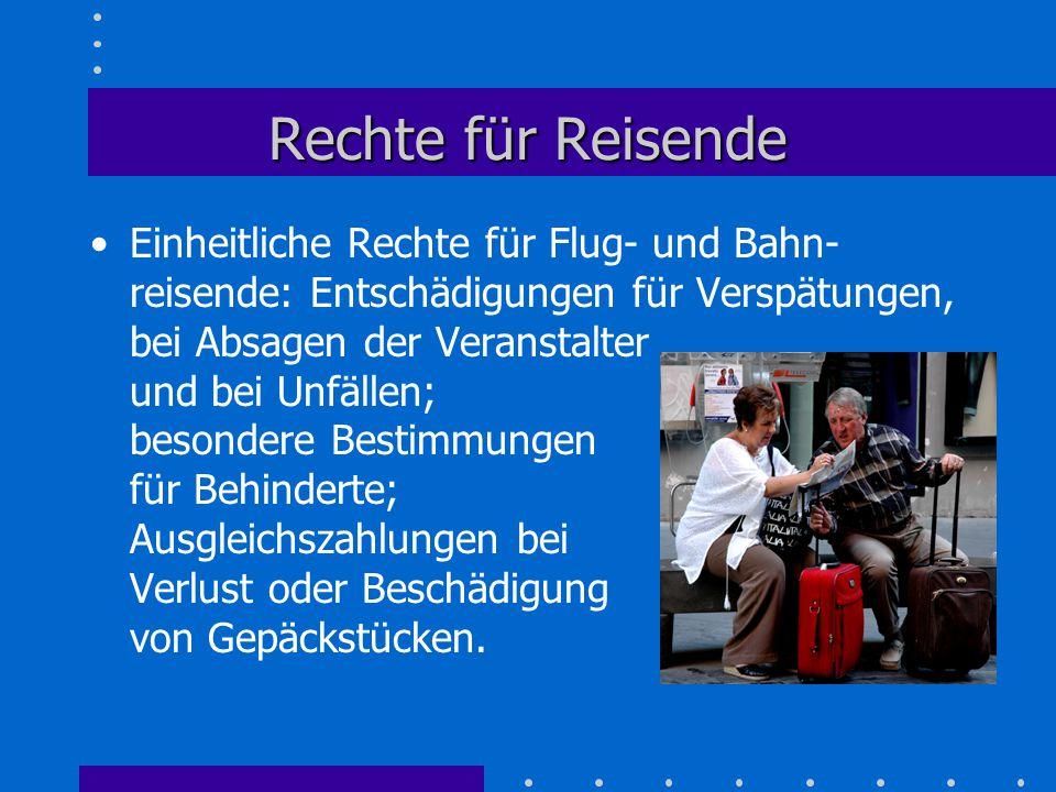 Rechte für Reisende