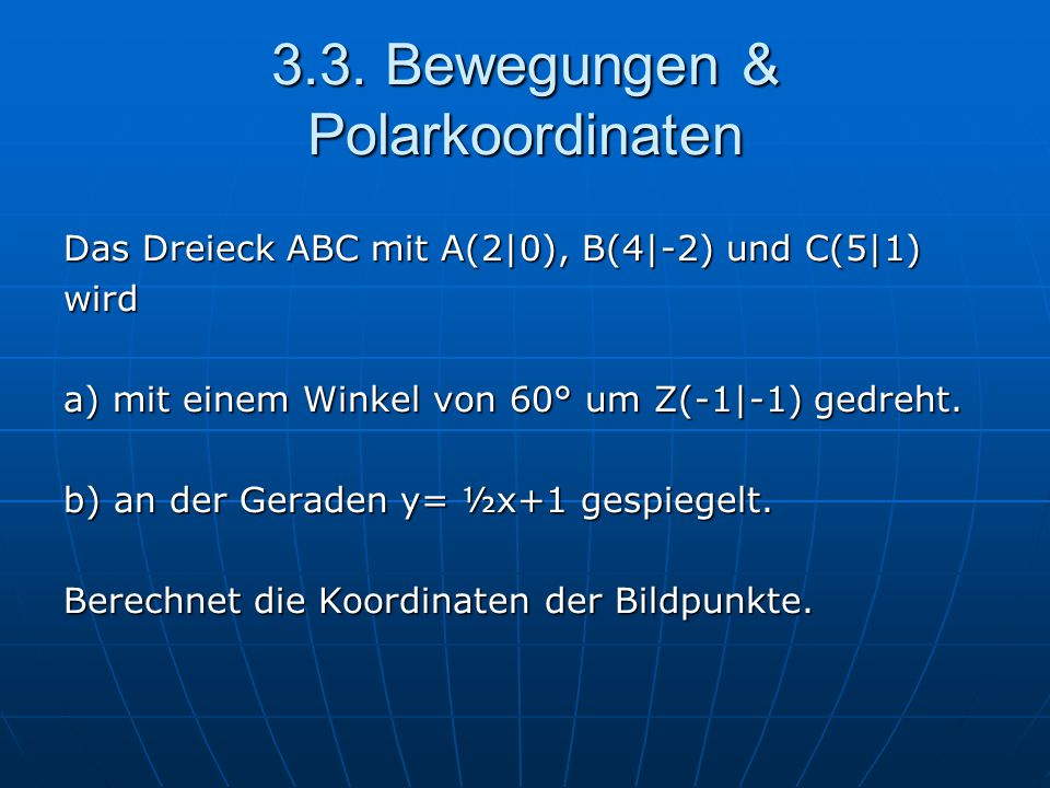 3.3. Bewegungen & Polarkoordinaten