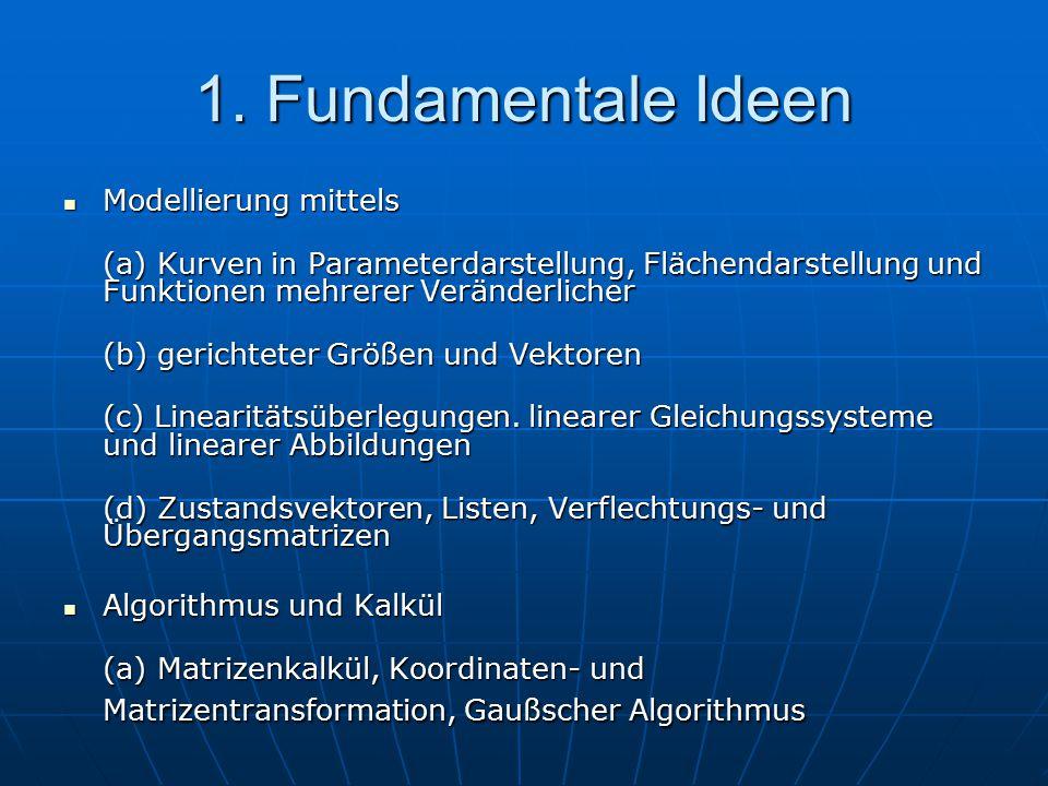 1. Fundamentale Ideen Modellierung mittels