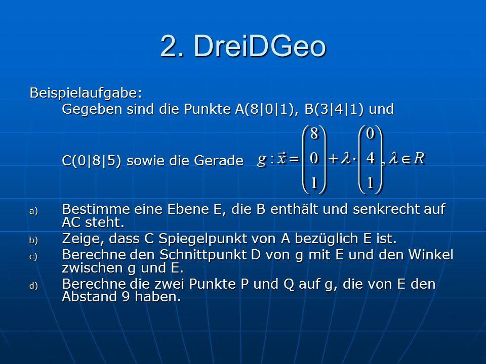 2. DreiDGeo Beispielaufgabe: