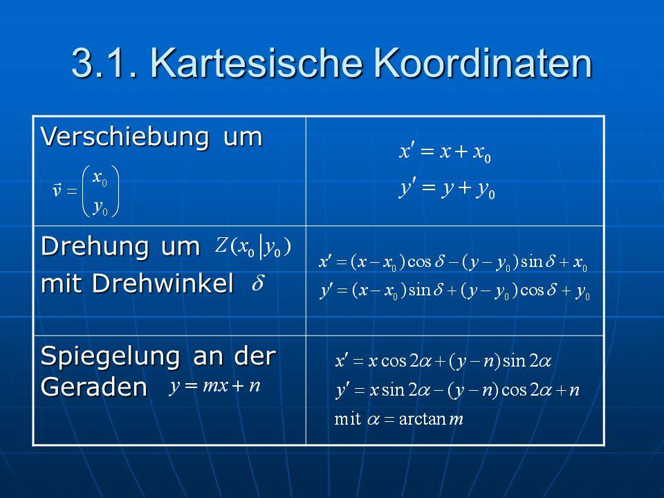 3.1. Kartesische Koordinaten