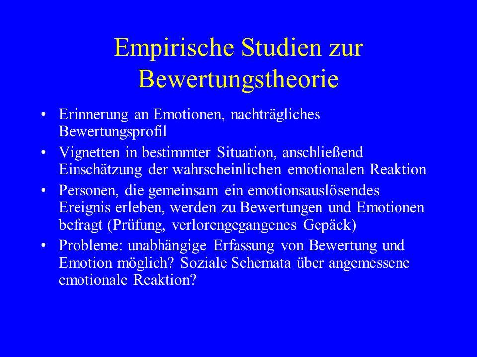 Empirische Studien zur Bewertungstheorie