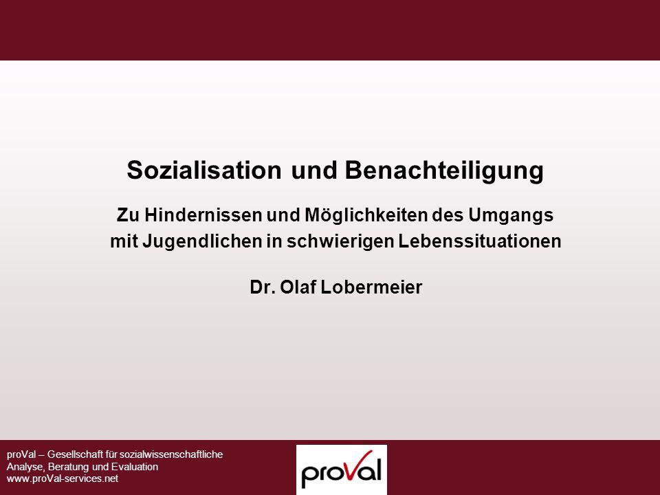 Sozialisation und Benachteiligung