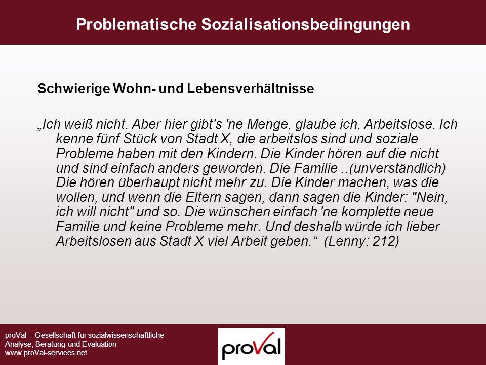 Problematische Sozialisationsbedingungen