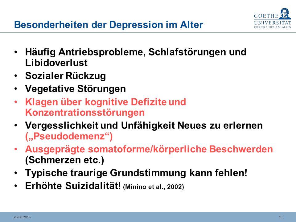 Körperliche Symptome bei depressiven Störungen