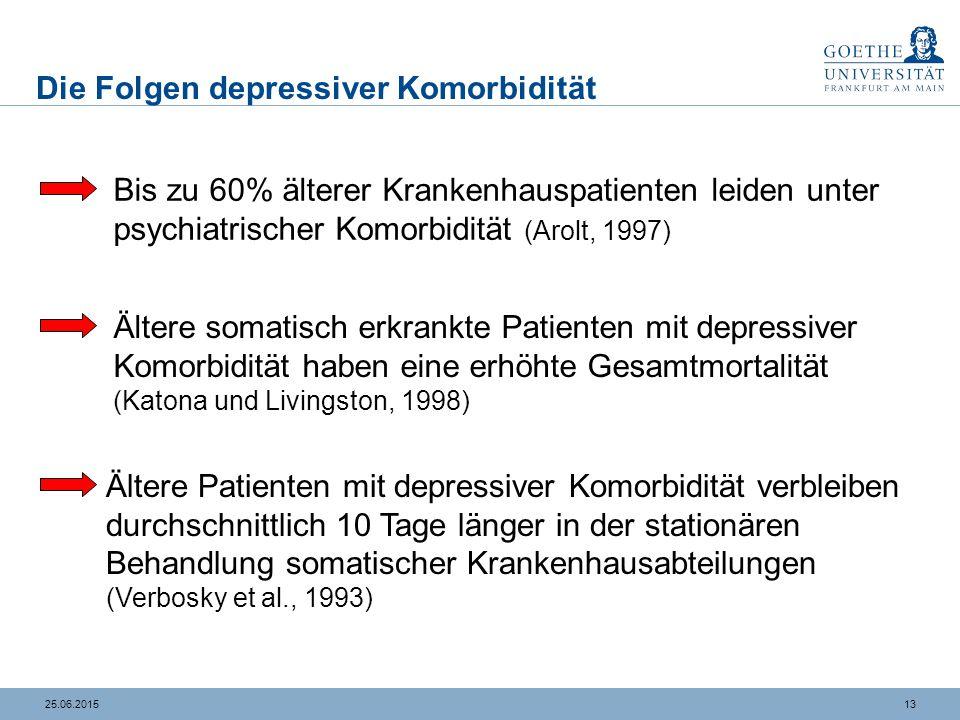 Depression versus Demenz – Ein differentialdiagnostisches Problem
