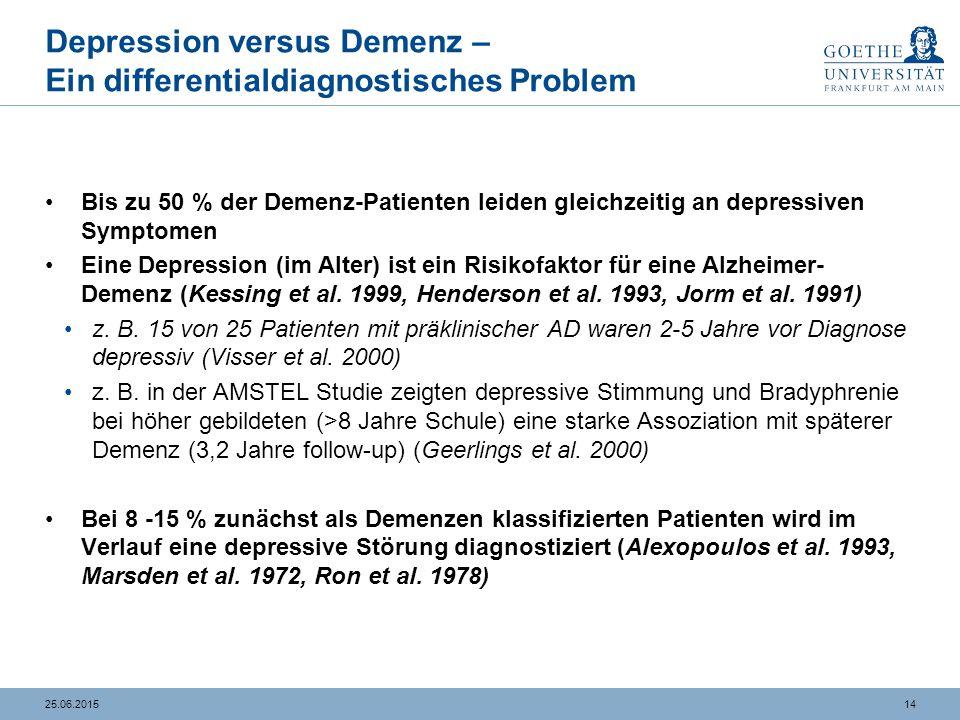 Depression versus Demenz
