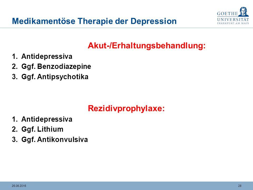 Medikamentöse Therapie der Depression